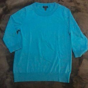 J.Crew tippi sweater turquoise merino wool